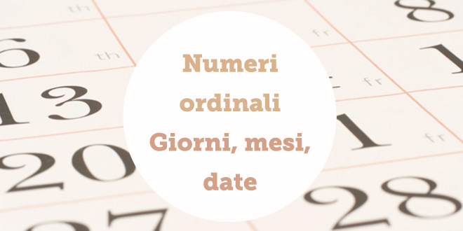 Domenica 14 maggio: dagen, maanden & data