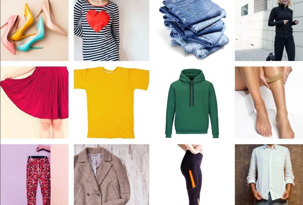 vestiti, namen van kledingstukken in het Italiaans